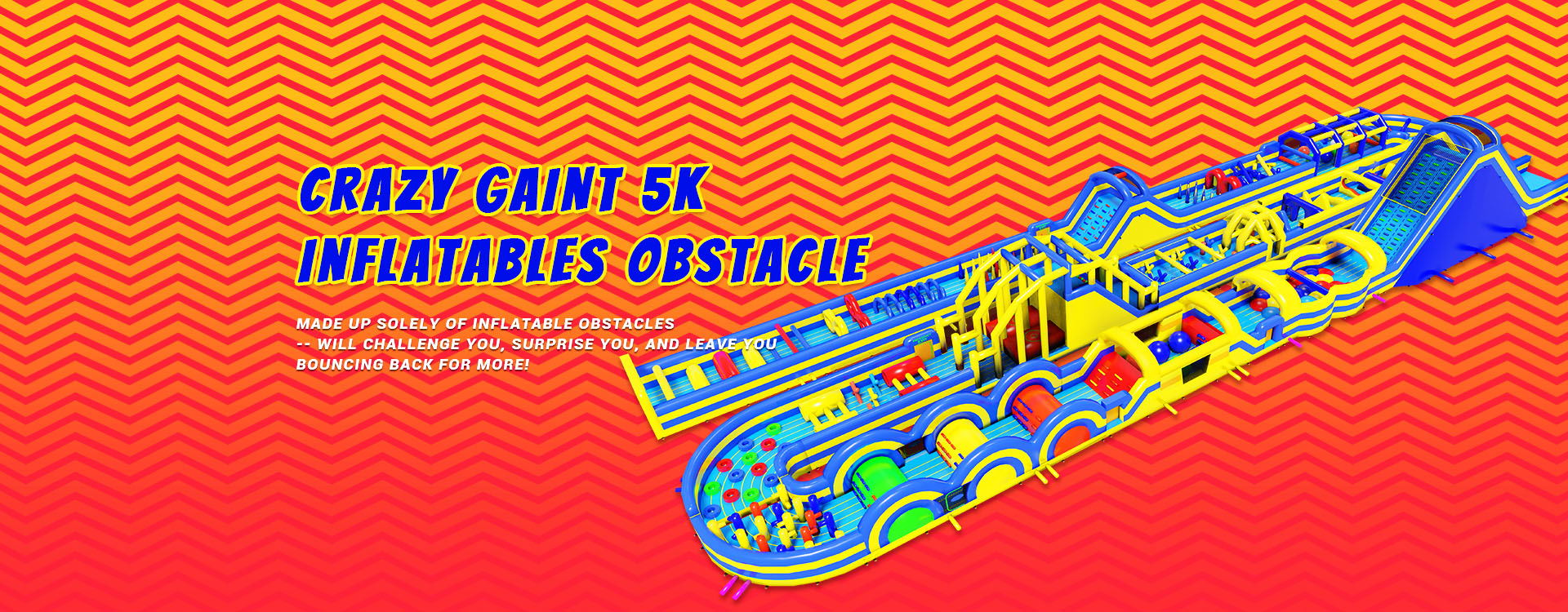 CRAZY GAINT 5K INFLATABLES OBSTACLE