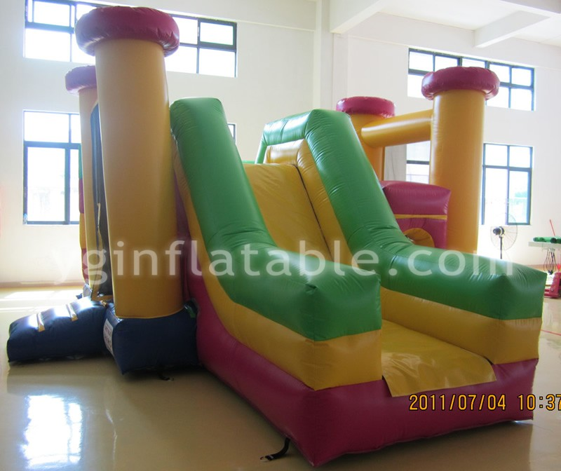 Backyard inflatable bounce house