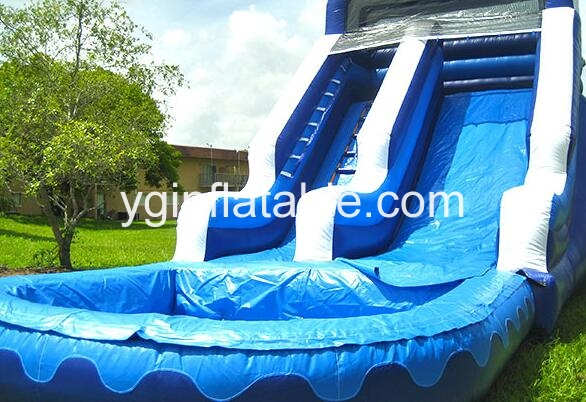 An inflatable slide rental business