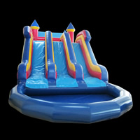 inflatable bouncer slide pool comboGL149