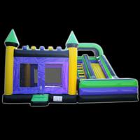 Purple Water Slide Bounce House