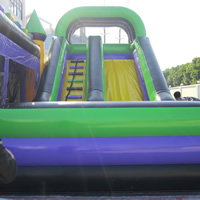 Purple Inflatable Bounce Slide CombinationGB495