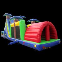 tropical rainforest inflatable obstacles