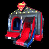 Superman bouncy castle with slide