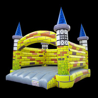 Yellow Inflatable Bouncy Castle