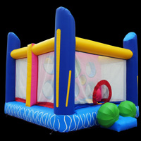 Colorful Bounce House Birthday Party