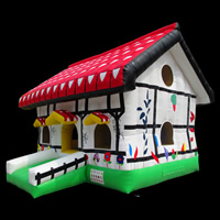 house shape inflatable castle