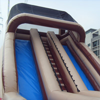 Beige inflatable slideGI154