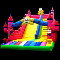 fun inflatable lake slide