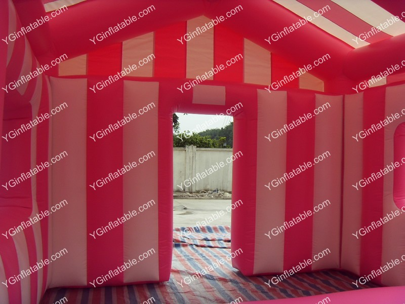 Pink and white inflatable tents onlineGN089