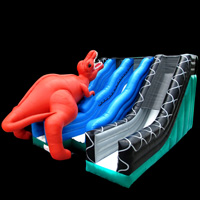 The dinosaur trio inflatable slidesGI159