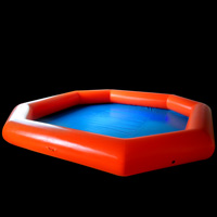 Orange inflatable pool