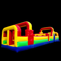 The monster inflatable obstacle course