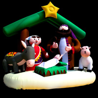 Inflatable cartoon park