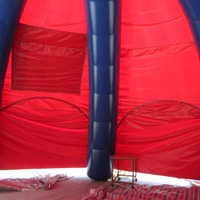 red inflatable dome tentGN090