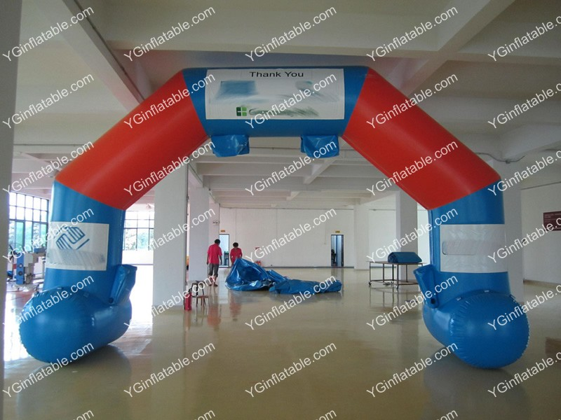 Blue and red Inflatable ArchGA142
