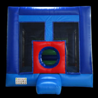 Blue mini inflatable bouncerGB505