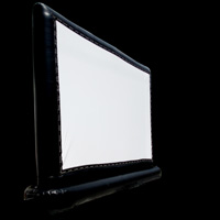 black inflatable screens