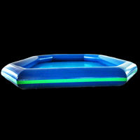Dark blue inflatable pool