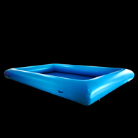 Light blue inflatable pool
