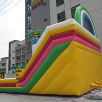 Large double groove inflatable slideGI160