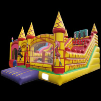 Inflatable bricks slide