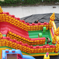 Inflatable bricks slideGI165