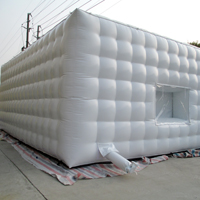 Flattened inflatable tentGN111