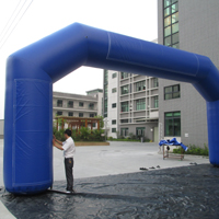 Dark blue inflatable archGA134b