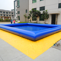 Blue inflatable poolGP004