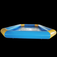 Yellow blue inflatable pool