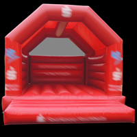 Red inflatable bouncer