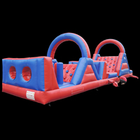 Red Indoor Inflatable Obstacle Course
