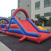 Red and blue inflatable obstacleGE146