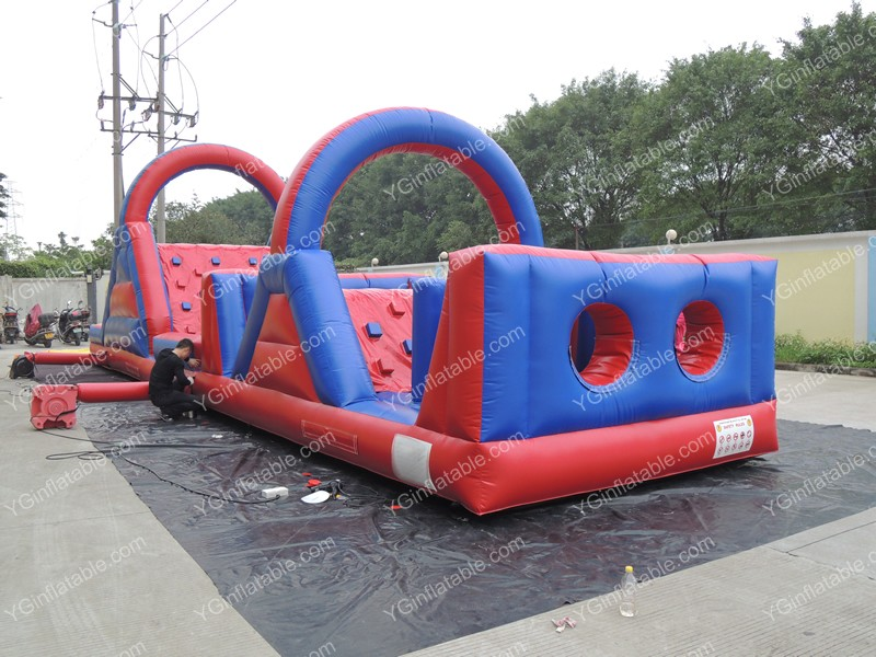 Red Indoor Inflatable Obstacle CourseGE146