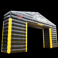 Inflatable black rectangular arches