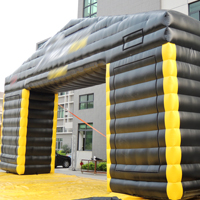 Inflatable black rectangular archesGA168