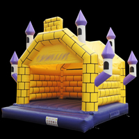 Yellow Lattice Bouncy Castle For Sale