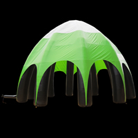 Light green inflatable tent