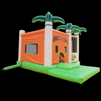 Coconut trees bouncer Slide