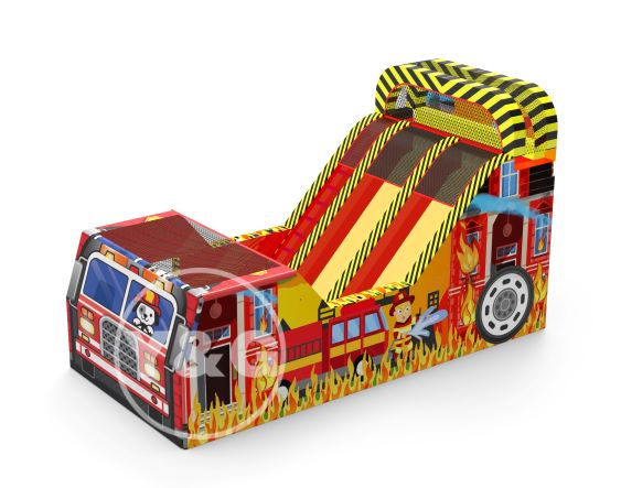 Fire Engine Inflatable Obstacle GameNEW-4