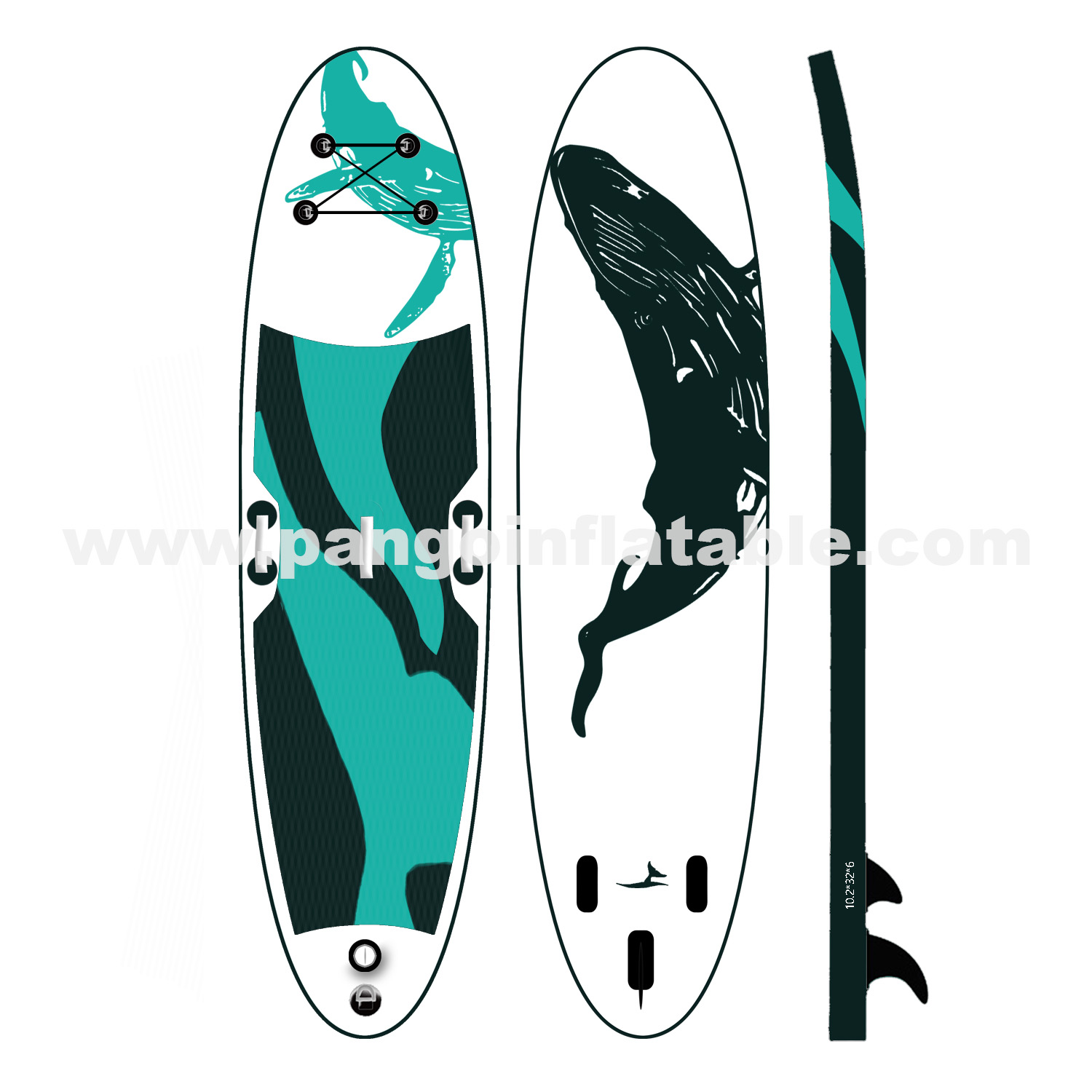 Blue whale  inflatable paddle board
