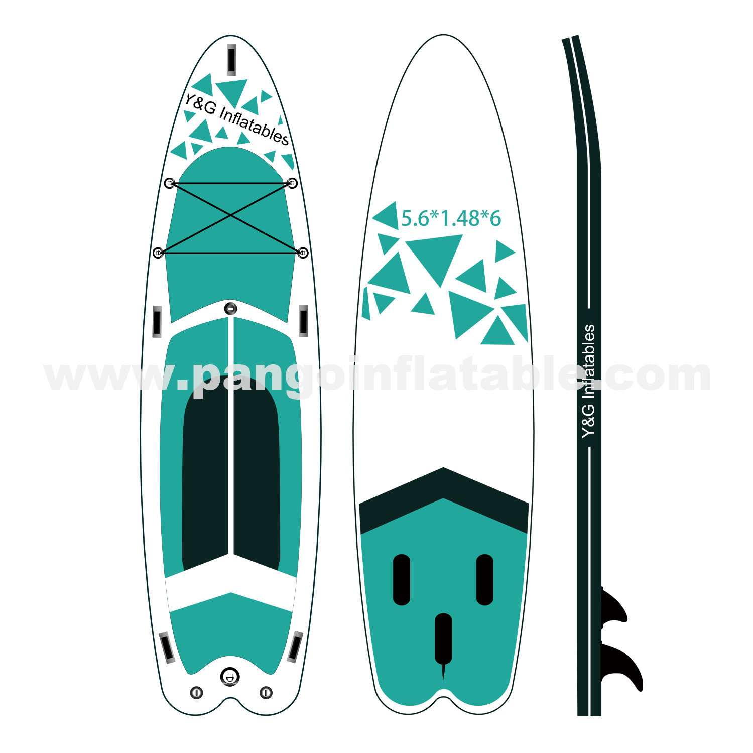 Graphics Inflatable Paddle BoardYPD-44