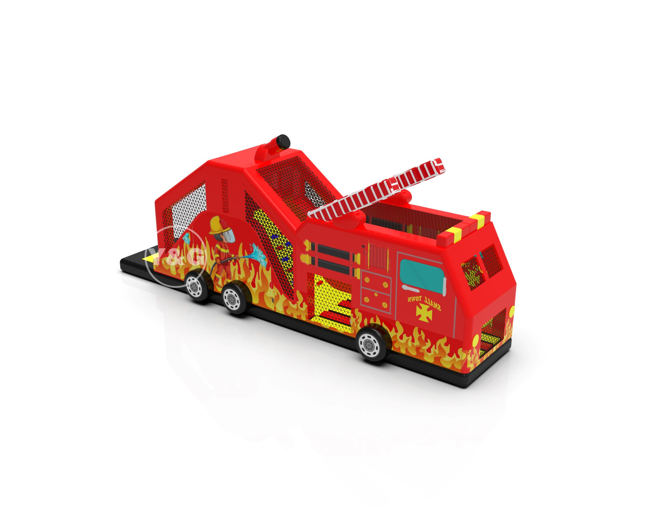 Fire Truck Inflatable GamesYPD-48