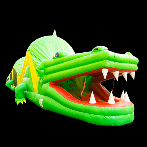 Crocodile obstacle course moon bounce