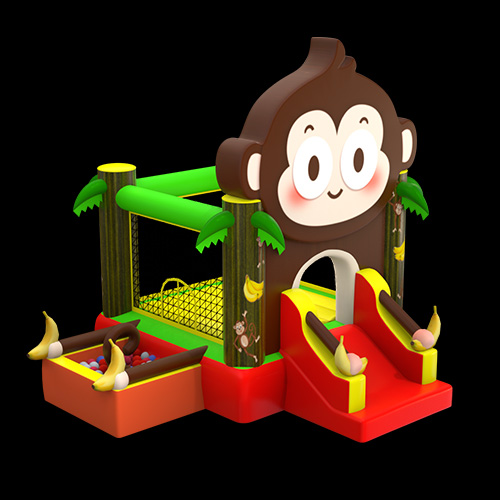 Monkey Slip And Slide Bounce House