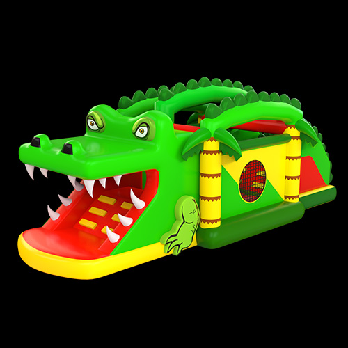 Crocodile Bouncy Castle With Slide02