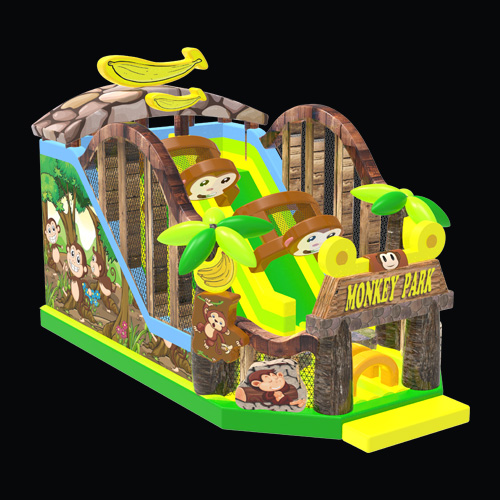 Monkey backyard inflatable water slide