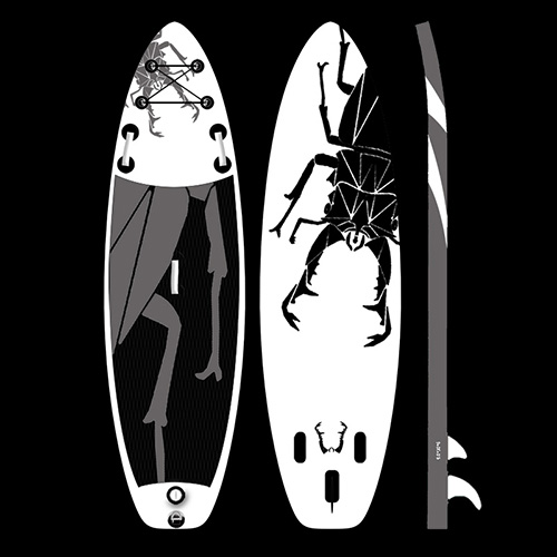Beetle inflatable paddle board