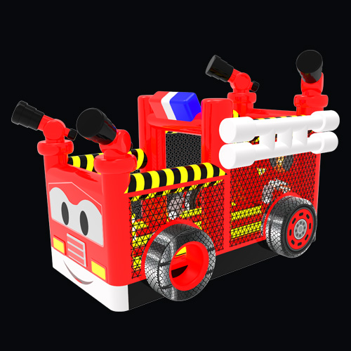 Fire Truck Blow Up Bounce House